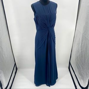 Bill Levkoff Formal Dress 10 Navy Blue Bridesmaid